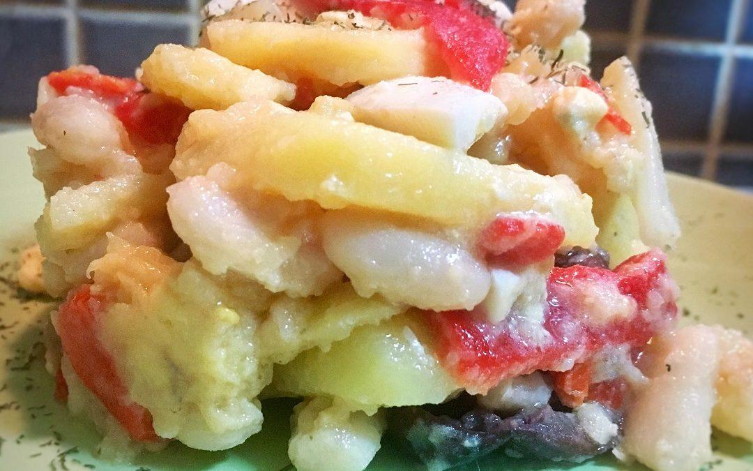 Ensalada fresca de patatas y anchoas
